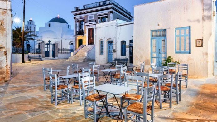 Σέριφος πλατεία καφενείο