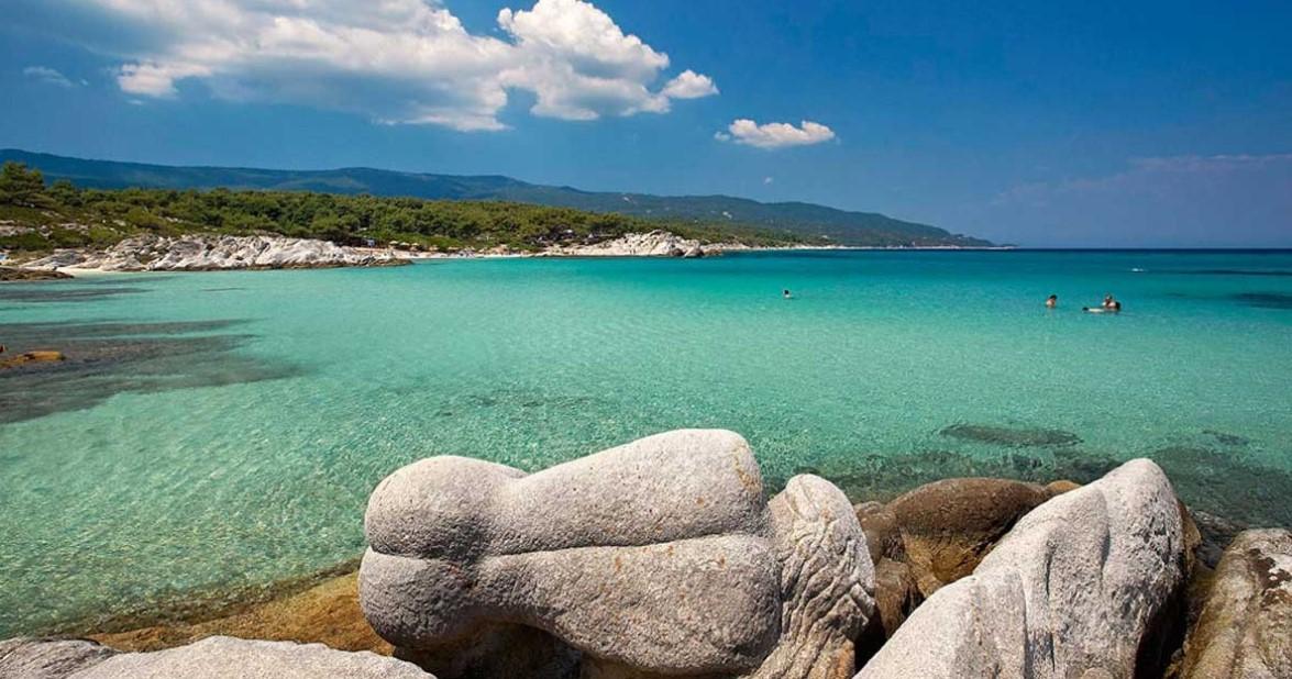 Καβουρότρυπες παραλίες Χαλκιδικής