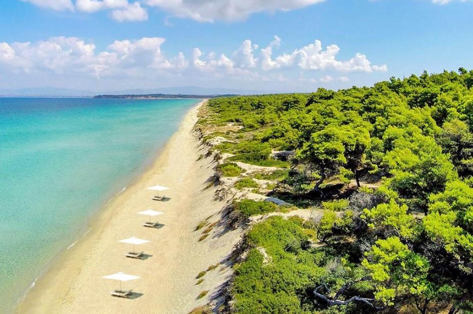 Σάνη παραλία παραλίες Χαλκιδικής